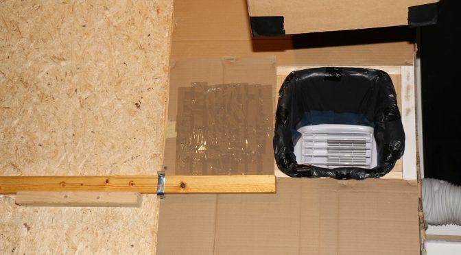 Klimaanlage in Kammer hinter Trennwand – verbesserte Kühlleistung!