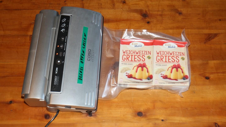 Lebensmittel in Papierpackung halten nicht lange? Mit dem Vakuumierer schon!