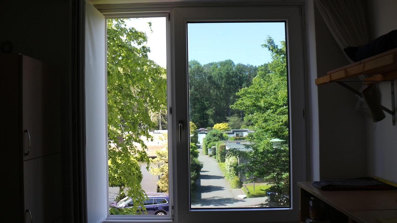 Die selbstklebende Fensterfolie wird auch im Winter etwas Licht schlucken